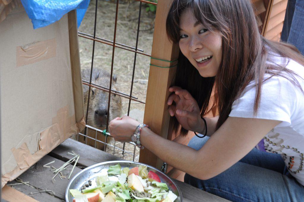 岡山の友達の家のカピバラさん